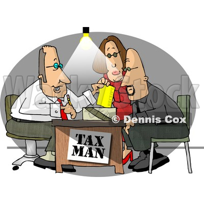 ... and Wife Getting Taxes Done by Their Professional Accountant Clipart Female Accountant Clipart