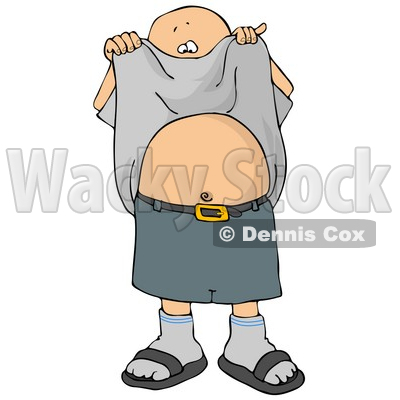 Lifting His Shirt and Showing His Belly Button Clipart Picture ...