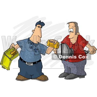 First Aid Assistant Helping Screwed Man Clipart Picture © djart #5985
