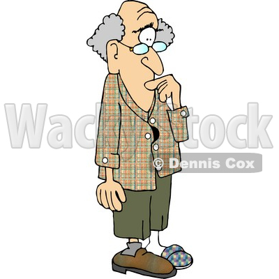 Forgetful Old Man with Alzheimer's Disease Clipart Picture © djart #5986