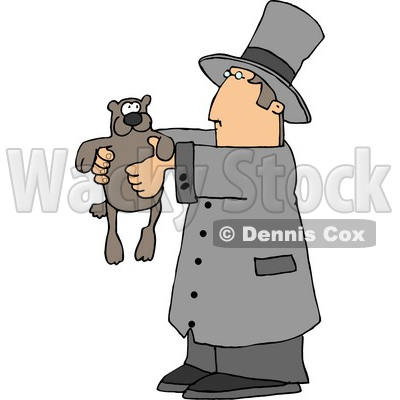 Happy Groundhog Day! Clipart Picture © djart #5994