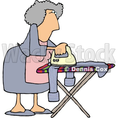 Housewife Ironing Clothes Clipart Picture © djart #6016