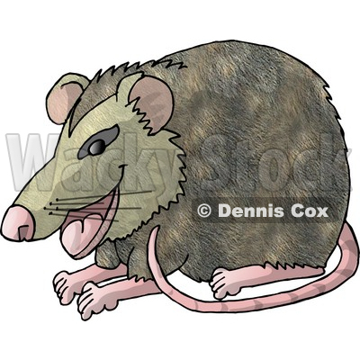 Happy Possum Clipart Picture © djart #6075