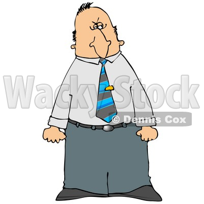 Mad Businessman Giving a Dirty Look with His Face While Clenching Both Fists - Royalty-free Clipart Illustration © djart #6255