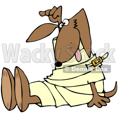 Royalty-Free (RF) Clipart Illustration of a Crazy Pooch in a Straight Jacket © djart #66728