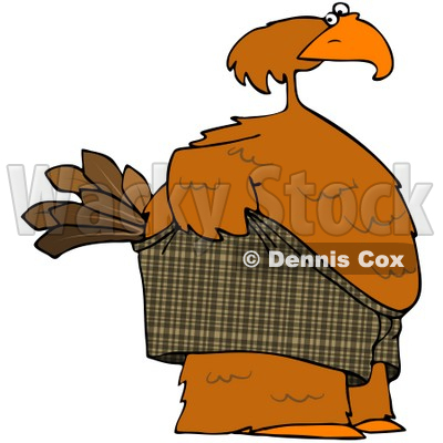 Royalty-Free (RF) Clipart Illustration of an Embarrassed Bird Pulling Up His Shorts © djart #71431
