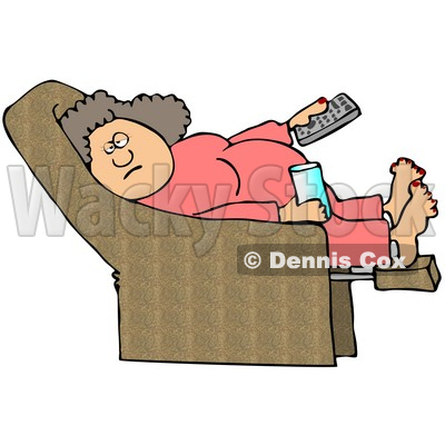 Illustration of a Lazy Or Lazy Cartoon Characters