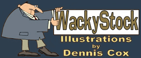 Wacky Stock Cartoons by Dennis Cox