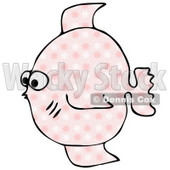 Pink and White Flower Patterned Fish Clipart Illustration © Dennis Cox #10207