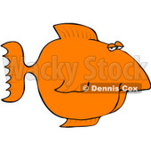 Royalty-Free (RF) Clipart Illustration of an Orange Fish With A Big Nose © Dennis Cox #1044962