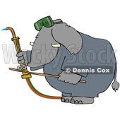Royalty-Free (RF) Clip Art Illustration of a Welding Elephant © Dennis Cox #1050671
