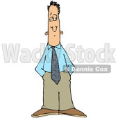 Royalty-Free (RF) Clip Art Illustration of a Businessman Keeping On Eye Open © djart #1050681