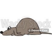 Royalty-Free Vector Clip Art Illustration of a Scared Dog Quivering © djart #1052993