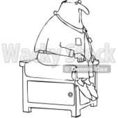 Royalty-Free Vector Clip Art Illustration of a Black And White Patient Outline © djart #1054356