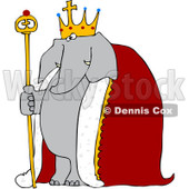 Royalty-Free Vetor Clip Art Illustration of an Elephant King © djart #1055096
