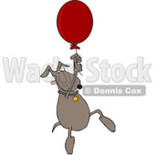 Royalty-Free Vector Clip Art Illustration of a Dog Floating Away With A Balloon © djart #1055599