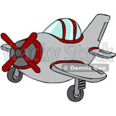 Royalty-Free Vector Clip Art Illustration of a Small Plane © djart #1056410