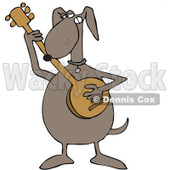 Royalty-Free Vector Clip Art Illustration of a Dog Playing A Banjo © djart #1056411