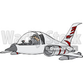 Royalty-Free Vector Clip Art Illustration of a Pilot Flying A Jet © djart #1056416