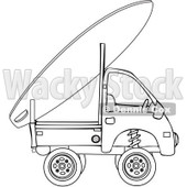 Royalty-Free Vector Clip Art Illustration of a Surf Board On A Surf Truck © djart #1056421