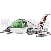 Royalty-Free Clip Art Illustration of a Man Flying A Jet © Dennis Cox #1056424