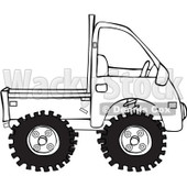 Royalty-Free Vector Clip Art Illustration of a Coloring Page Outline Of A Keimini Truck © djart #1057875