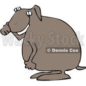 Royalty-Free Vector Clip Art Illustration of a Dog Covering His Nose © djart #1057876