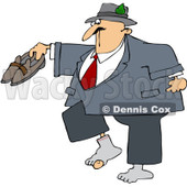 Royalty-Free Vector Clip Art Illustration of a Man With A Hole In His Sock © djart #1057881