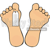 Royalty-Free Vector Clip Art Illustration of a Toe Tag On A Foot © djart #1059509