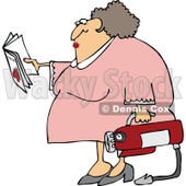 Clipart Woman Reading Extinguisher Manual - Royalty Free Vector Illustration © djart #1062796
