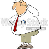 Clipart Confused Businessman - Royalty Free Vector Illustration © djart #1062801