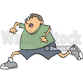 Clipart Boy Running Scared - Royalty Free Vector Illustration © Dennis Cox #1062805
