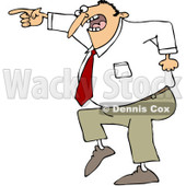 Clipart Mad Businessman Pointing - Royalty Free Vector Illustration © djart #1062808