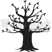 Clipart Black Tree Silhouette - Royalty Free Vector Illustration © Dennis Cox #1062816