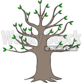 Clipart Tree With Growth - Royalty Free Vector Illustration © Dennis Cox #1062818