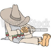 Clipart Man Taking A Siesta - Royalty Free Vector Illustration © djart #1065014