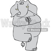 Clipart Yoga Elephant Balanced On One Leg - Royalty Free Vector Illustration © djart #1065015