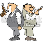 Clipart Men Ready For A Duel - Royalty Free Vector Illustration © djart #1065598