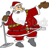Clipart Santa Introducing - Royalty Free Vector Illustration © Dennis Cox #1067565