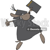 Clipart Graduate Dog With A Diploma - Royalty Free Vector Illustration © djart #1068859
