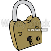 Clipart Padlock - Royalty Free Vector Illustration © djart #1069329