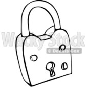 Clipart Outlined Padlock - Royalty Free Vector Illustration © djart #1069330