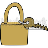 Clipart Key And Padlock - Royalty Free Vector Illustration © djart #1069335