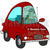 Clipart Bugs Splattered All Over A Drivers Car Windshield - Royalty Free Illustration © djart #1069898