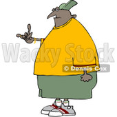 Clipart Black Gangster Gesturing - Royalty Free Vector Illustration © djart #1073094