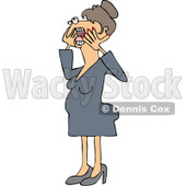 Clipart Hysterical Woman Screaming - Royalty Free Vector Illustration © Dennis Cox #1078199