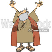 Clipart Moses Holding Up His Arms - Royalty Free Vector Illustration © djart #1079841
