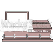 Clipart Empty Pink Burial Coffin Casket - Royalty Free Vector Illustration © djart #1081112