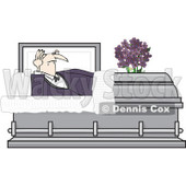 Clipart Vampire Rising In A Coffin Casket - Royalty Free Vector Illustration © djart #1081113