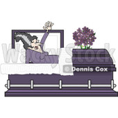Clipart The Bride Of Frankenstein Rising In A Coffin Casket - Royalty Free Vector Illustration © djart #1081114